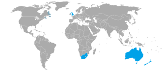 BANZSL - Image: BANZSL map