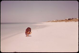 Destin, Florida - Beach at Destin, 1973