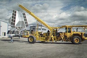 Volvo Construction Equipment - A heavily modified Volvo is used to launch large balloon payloads at Esrange in northern Sweden.