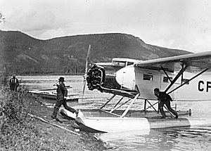 BYN Co. Fairchild 82, either CF-AXK or CF-AXJ at Forty Mile July 1938.jpg