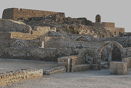 The Portuguese Fort of Barém, built by the Portuguese Empire while it ruled Bahrain from 1521 to 1602.
