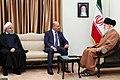 Baiham Salih, Rouhani, Khamenei, Tehran.jpg