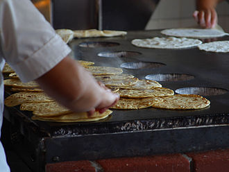 Wheat tortilla - Tortillas being made in Old Town San Diego