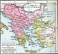 Balkans in 1350 according to Gustav Droysen from 19th century.jpg