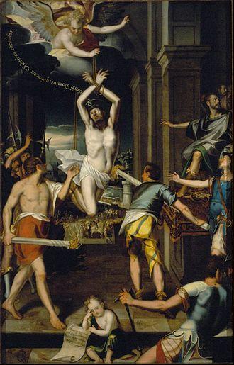 Baltasar de Echave - Image: Baltasar de Echave Orio The Martyrdom of Saint Pontianus Google Art Project