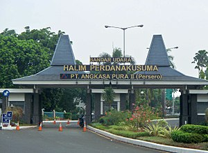 Halim Perdanakusuma International Airport - Entrance of Halim Perdanakusuma Airport