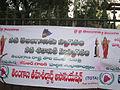 Banner of Telangana Tehsildar Association with Telangana Talli image.JPG
