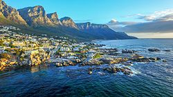 An aerial view of Bantry Bay