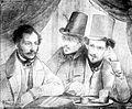 Barabás Barabás, Burghardt and Kozina in Venice 1834.jpg