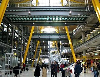 Adolfo Suárez Madrid–Barajas Airport - Entrance of Terminal 4 at Madrid Barajas Airport