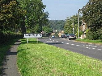 Barleythorpe - Image: Barleythorpe Road