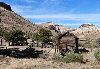 National Register of Historic Places listings in Malheur County, Oregon - Image: Barn tack room Birch Creek Historic Ranch Oregon