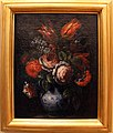 Bartolomeo bimbi, coppia di vasetti a decori blu con fiori, 01.JPG