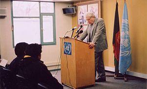 M. Cherif Bassiouni - Professor Bassiouni lecturing in 2005