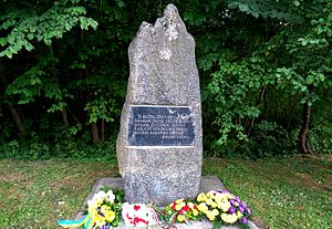 Salaspils - Battle of Kirhholm Stone (other memorial) in Salaspils, Latvia