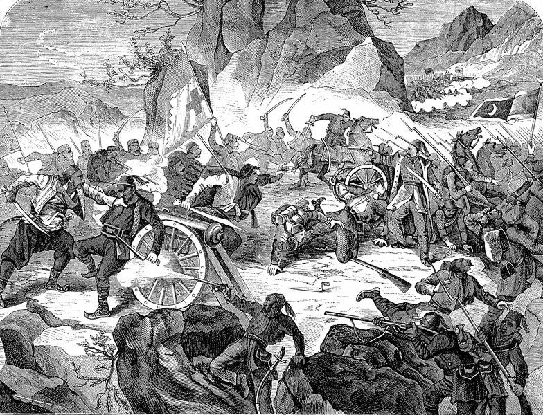 Battle of Vučji Do, Orao, 1877