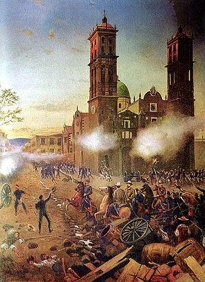 Military history of Mexico - The Battle of Puebla marked one of the most significant episodes in Mexican military history.