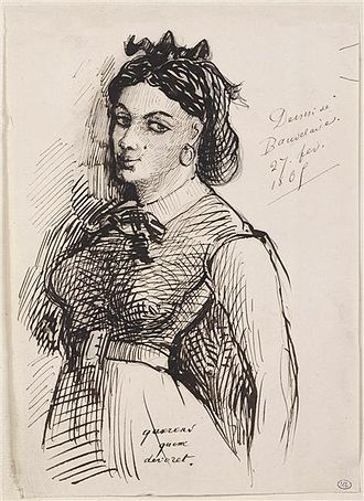 Jeanne Duval - Jeanne Duval as drawn by Charles Baudelaire.