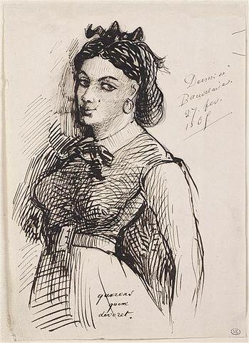 Жанна Дюваль. Рисунок Бодлера