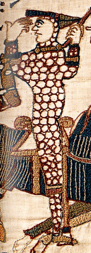 William the Conqueror - William as depicted in the Bayeux Tapestry during the Battle of Hastings, lifting his helm to show that he is still alive