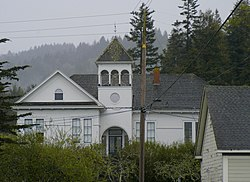 The old Jacoby Creek School is on the U.S. National Historic Register #1985000353.[1]