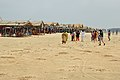 Beach Hut with Tourists - Tajpur Beach - East Midnapore 2015-05-02 9133.JPG