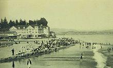Beach Scene At Capitola 1905
