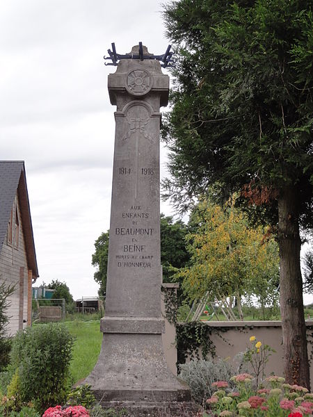 Beaumont-en-Beine (Aisne) monument aux morts