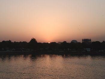 Beautiful sunset at Kankaria Lake, Ahmedabad.jpg