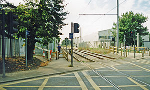 Beddington Lane railway station - The tram stop