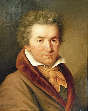 Symphony No. 7 (Beethoven) - Portrait of the composer by Joseph Willibrord Mähler in 1815, two years after the premiere of the symphony