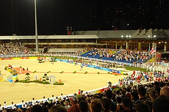 United Arab Emirates at the 2008 Summer Olympics - The Hong Kong Sports Institute, where Shaikha Latifa Bint Ahmad Bin Juma Al Maktoum took part in show jumping competition.