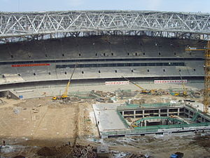 Beijing National Stadium - Under construction in September 2007