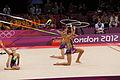 Belarus Rhythmic gymnastics team 2012 Summer Olympics 16.jpg