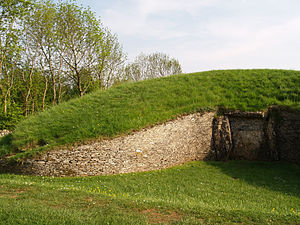 Belas Knap - The northern end of the site, showing the intricate false entrance.
