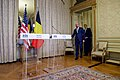 Belgian Prime Minister Michel Leads Secretary Kerry Before They Deliver Statements to the Media in Brussels (26025140675).jpg