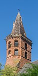 Bell tower of the Saint Martial Church of Marcillac-Vallon 02.jpg