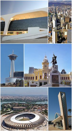48b873cdf Do topo, em sentido horário: Palácio Tiradentes na Cidade Administrativa, a  sede do