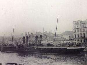 SS Ben-my-Chree (1875) - Image: Ben my Chree berthed at Douglas