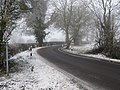 Bend in the snow - geograph.org.uk - 1636491.jpg