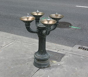 "Benson Bubbler - One of the many ""Benson Bubblers"" in downtown Portland, Oregon"