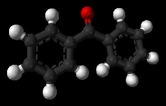 Benzophenone - Image: Benzophenone 3D balls