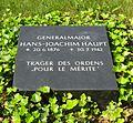 Berlin, Mitte, Invalidenfriedhof, Feld B, Grab Hans-Joachim Haupt, Restitutionsstein, 2012.jpg