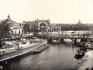 Berlin–Lehrte railway - Lehrte Station and Moltke Bridge in 1900
