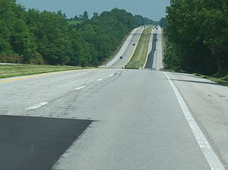 Bert T. Combs Mountain Parkway - A large portion of the parkway is four lanes wide