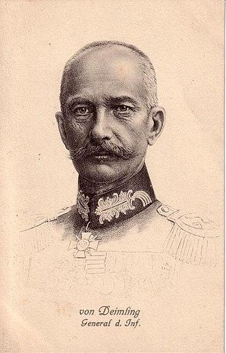 Berthold von Deimling - Berthold von Deimling