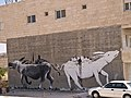 Bethlehem graffiti two donkeys.jpeg