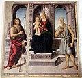 Biagio d'antonio, Madonna tra i santi Giovanni Battista e Girolamo, 01.JPG