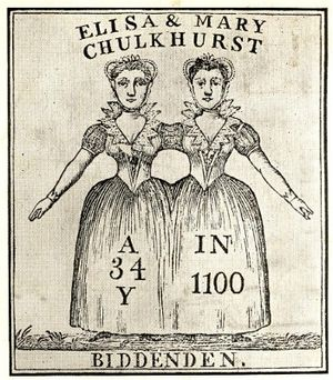 Biddenden - Mary and Eliza Chulkhurst, the Biddenden Maids