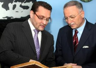 Abdul-Vahed Niyazov - Abdul-Vakhed Niyazov and Ekmeleddin İhsanoğlu